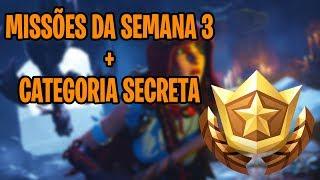 MISSIONS of the WEEK 3 + SECRET CATEGORY-Fortnite Battle Royale