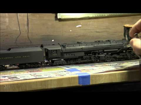 Weathering A B&O EM-1 2-8-8-4 Yellowstone Steam Locomotive
