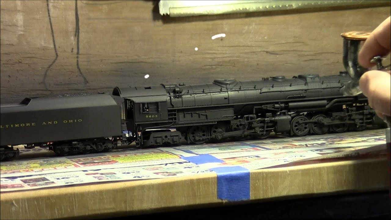 Weathering A B Amp O Em 1 2 8 8 4 Yellowstone Steam Locomotive