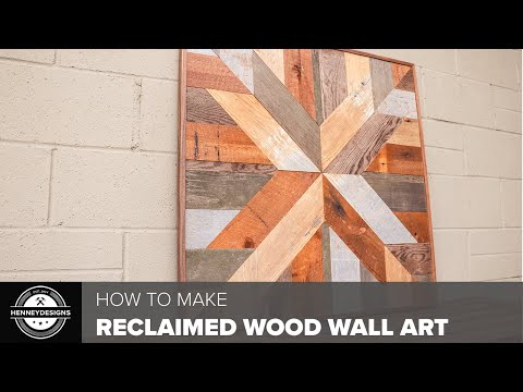 DIY Reclaimed Wood Wall Art // Woodworking