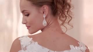Свадебное платье со шлейфом от VESILNA™ модель 3039