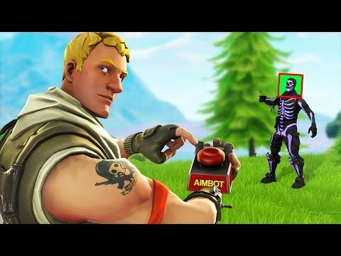 I challenged an AIMBOT hacker in fortnite playground...