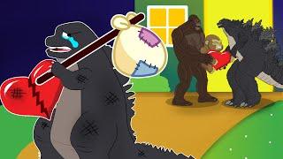 POOR BABY GODZILLA LIFE #6: Baby, Please Come Back Home   So Sad But Happy Ending Godzilla Animation