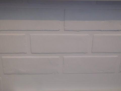 Имитация кирпичной кладки (стены). Ремонт на кухне. // Imitation of brickwork. Repair in the kitchen