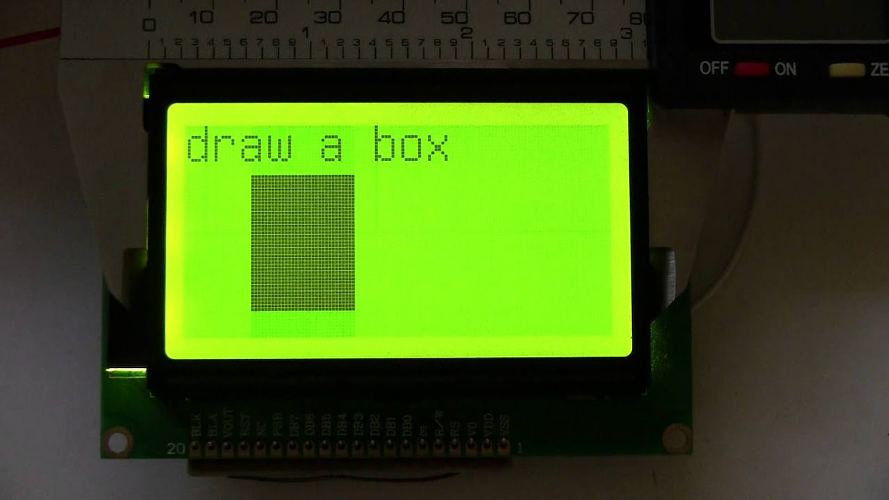 Serial Uart I2c Spi 128x64 Large Lcd With Backlight St7 Doovi