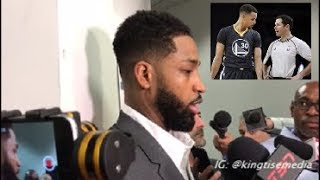 tristan thompson goes off over refs steph curry question after warriors vs cavs finals game 2