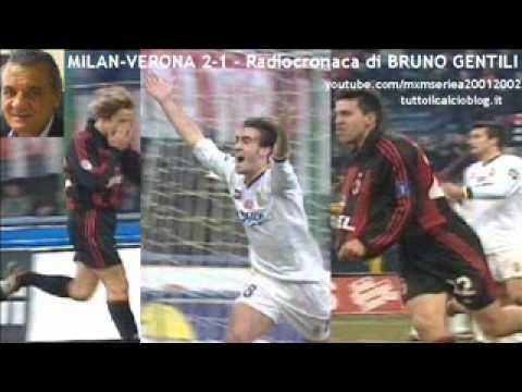 Milan-Verona 2-1 – Radiocronaca di Bruno Gentili (23/12/2001) da Tutto il calcio minuto per minuto