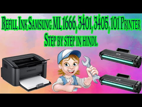 How To Refill Ink In Samsung Printer 1666, 3401, 3405, 101 & Change The Chip Step By Step In Hindi.
