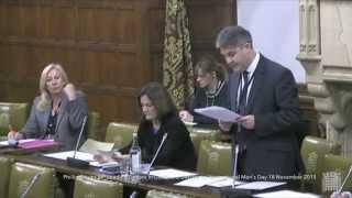 19 November 2015: Philip Davies MP introduces a debate about men