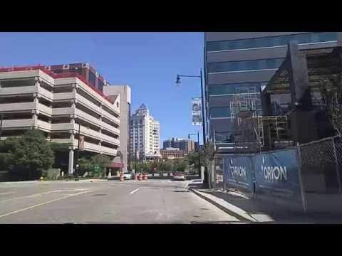 Driving by Downtown Grand Rapids,Michigan