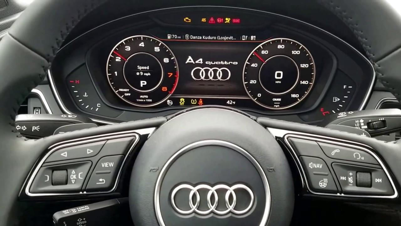 2017 Audi A4 B9 - Needle sweep