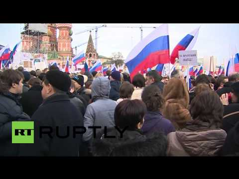 Russia: Thousands of Muscovites rally for Crimea