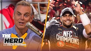 Colin questions what people don't see in Jimmy G, pressure is on Chiefs — not 49ers | NFL | THE HERD