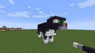 как построить черного кота в minecraft