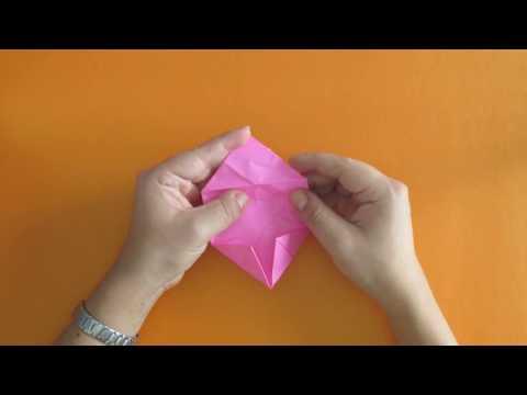Como hacer una flor de loto en origami  Tutorial