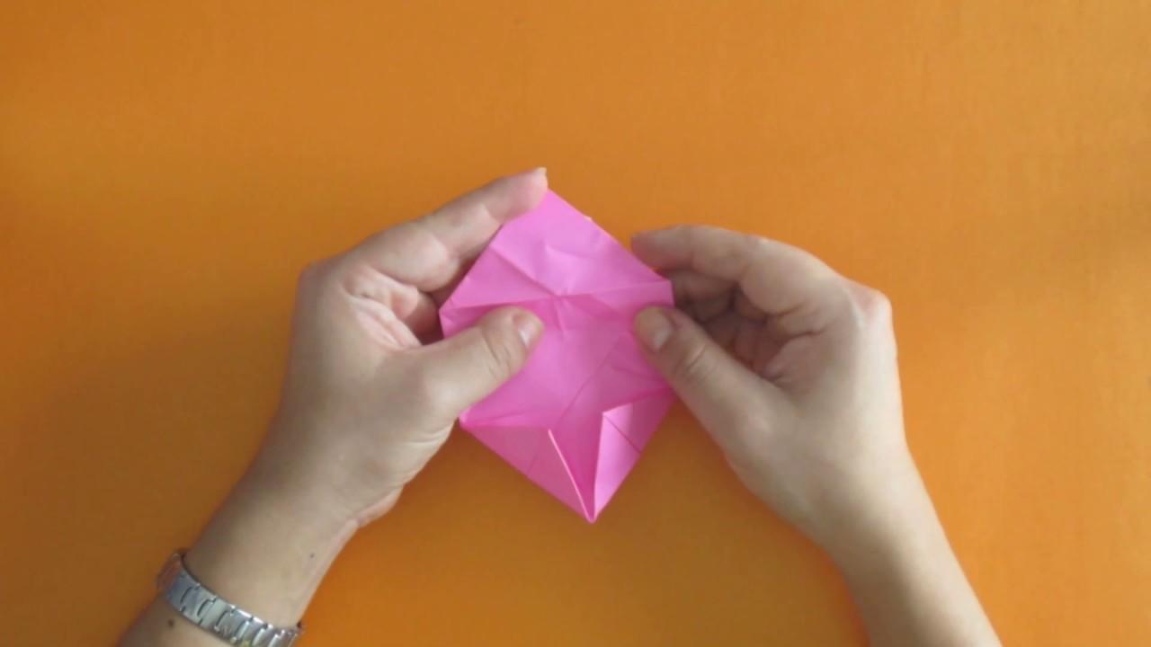 Como hacer una flor de loto en origami - Tutorial - YouTube