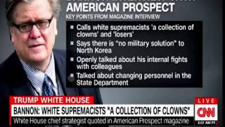 """Bannon Interview White Supremacists a """"collection of Clowns;"""" Will Trump Fire him?"""