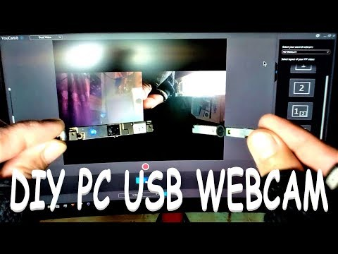 HOW TO CONVERT LAPTOP  WEBCAM TO USB PC WEBCAM TOSHIBA ?