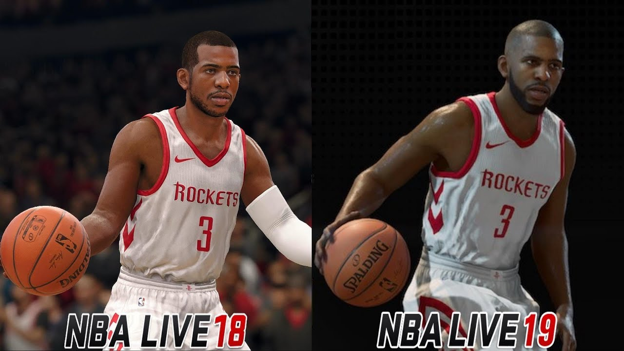 NBA Live 19 Point Guard Ratings and Live 18 Graphics Comparison