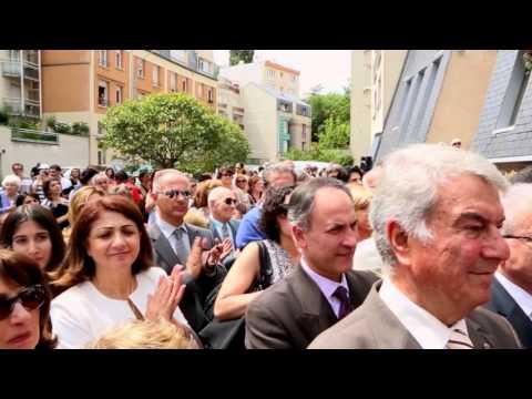 Inauguration du Khatchkar de l'église arménienne d'Issy-les-Moulineaux