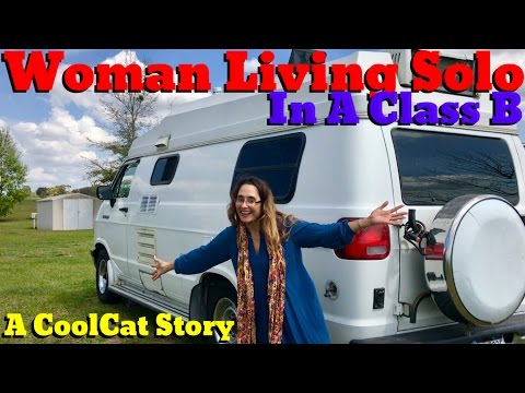 Woman Living Solo In A Class B! A CoolCat Story
