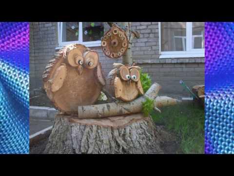 Поделки из спилов дерева своими руками для детского сада