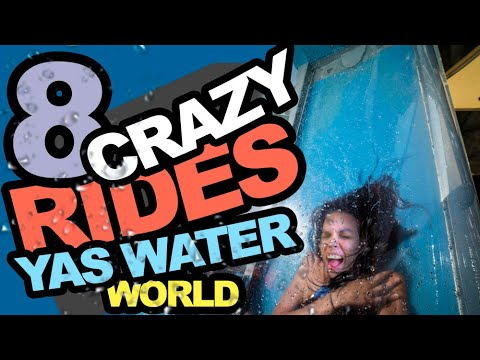 Yas Waterworld Abu Dhabi – Crazy Rides in First Person View. POV.