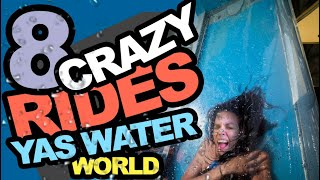 Yas Waterworld Abu Dhabi - Crazy Rides in First Person View. POV.