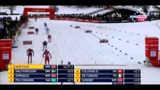 Супер финиш Нортуга на Тур де Ски 2015