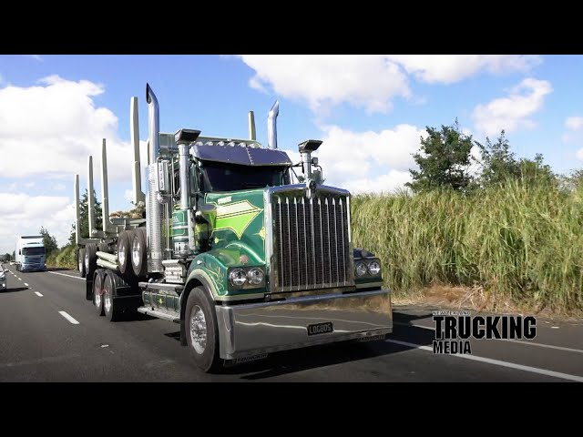 Truck Test | Kenworth T909 6x4 rigid with Koromiko 4-axle Low Boy trailer | To Stand