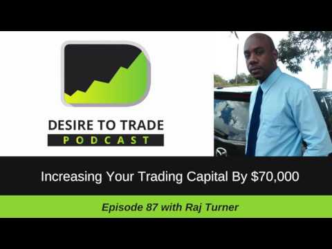 087: Increasing Your Trading Capital By $70,000 - Raj Turner | Trader Interview