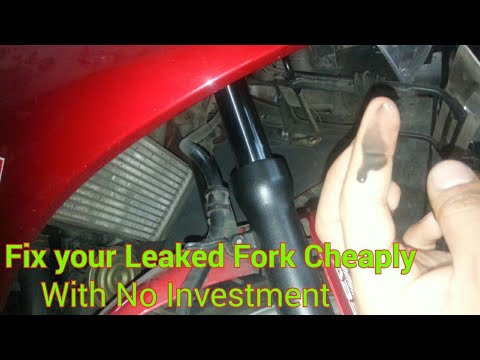 How To fix Your Leaked Motorcycle Front Fork 'CHEAPLY' at Home. Demo Honda CBR250R