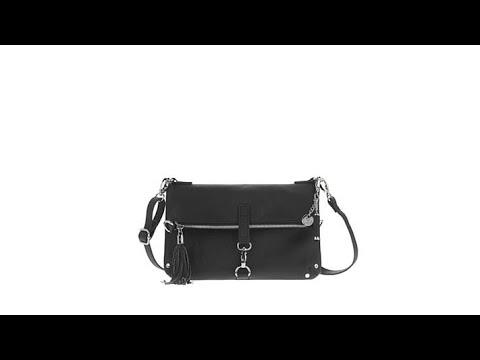 JOY First Class Saffiano Leather Crossbody Bag w RFID - YouTube 4439d0ca10d34