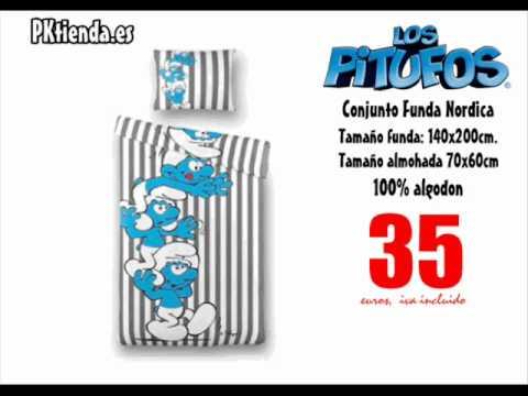 Conjunto Funda Nordica Los Pitufos , PKtienda.es   YouTube