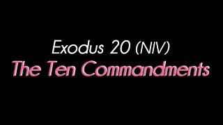 십계명 영어로 외우기 시리즈 4 | 출애굽기 20장 십계명 전문(全文) NIV버전 | 영어/한글 대조자막