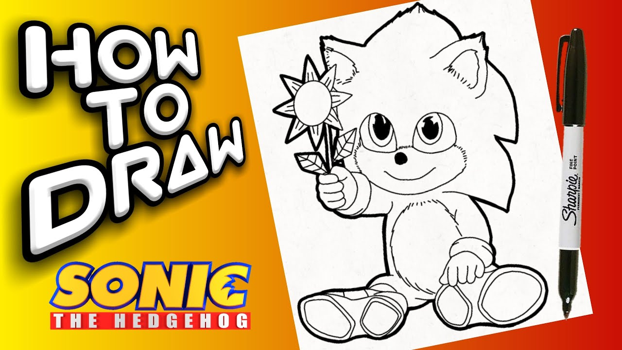 How To Draw Baby Sonic Como Dibujar A Baby Sonic Youtube