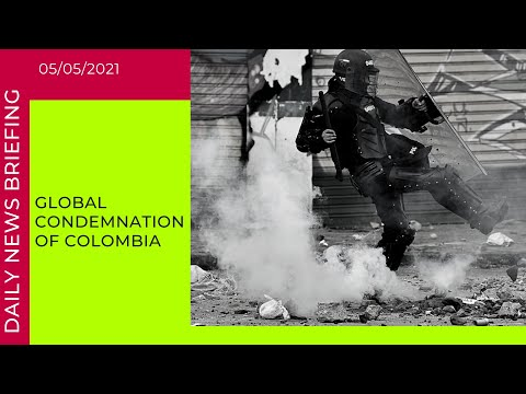 Global condemnation of Colombia's use of 'excessive force' against protesters | News Briefing