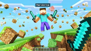 FIGHTING The Secret HEROBRINE Boss in Minecraft