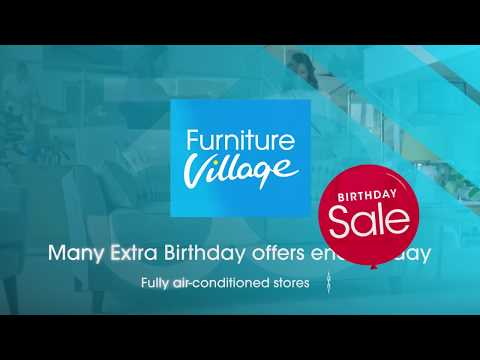 Furniture Village Birthday Sale Advert 2019