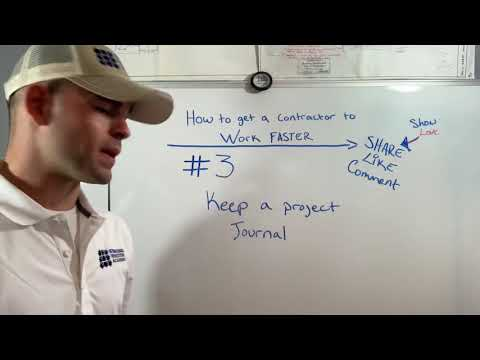 How To Get A Contractor To Work Faster 3/7