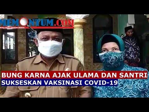 Kunjungi Ponpes di Wilayah Timur Situbondo, Bupati Minta Ulama dan Santri Turut Sukseskan Vaksinasi