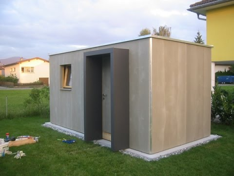 microhouse cuboid 12m gartenhaus youtube. Black Bedroom Furniture Sets. Home Design Ideas
