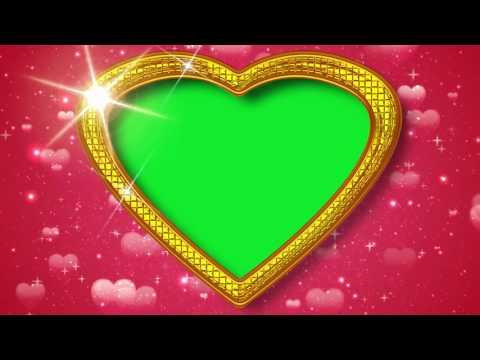 Heart Background Green Screen Frame Wedding Footage