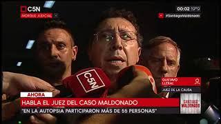 Santiago Maldonado: Terminó la autopsia, habla el Juez Lleral