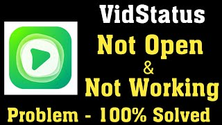 How To Fix Vidstatus Not Open Problem Android & Ios - Fix Vidstatus Not Working Problem Android screenshot 1