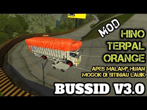 MOD HINO Terpal Orange  MOGOK Di Sitinjau Lauik || UPDATE BUSSID V3.0