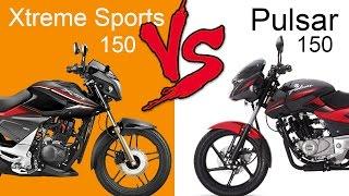 hero xtreme sports 150 vs bajaj pulsar 150   comparison review extended