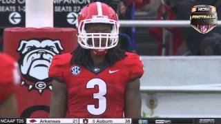 Todd Gurley kickoff return for Touchdown Georgia vs Clemson 2014