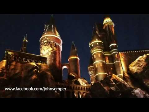 HARRY POTTER Light Show at Universal Theme Park, LA