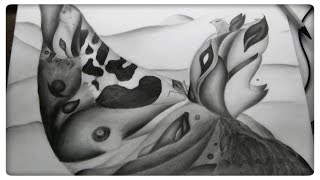 Abstract graphite pencils drawing - Metamorphosis